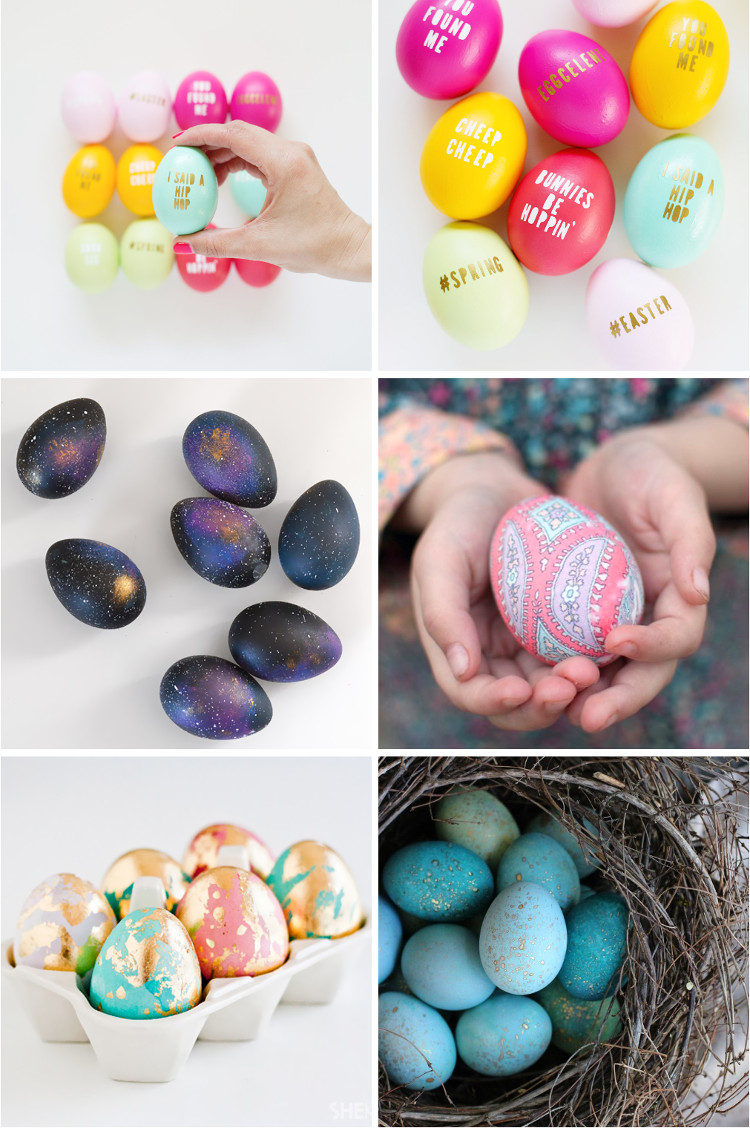 Imaginative ways to decorate eggs for Easter