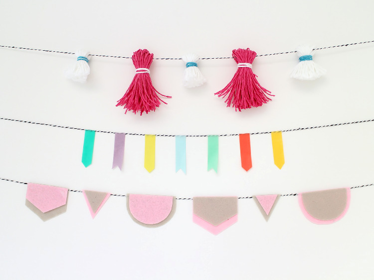Three super quick garlands