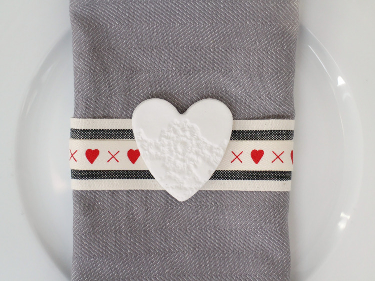 A Valentines place setting that can be used again and again