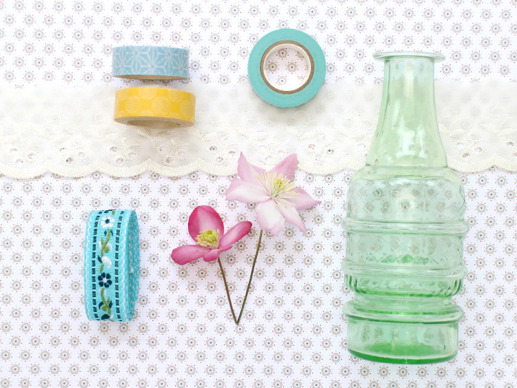 Washi tape and ribbon are perfect for decorating jars