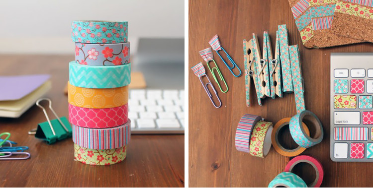Various washi tape projects