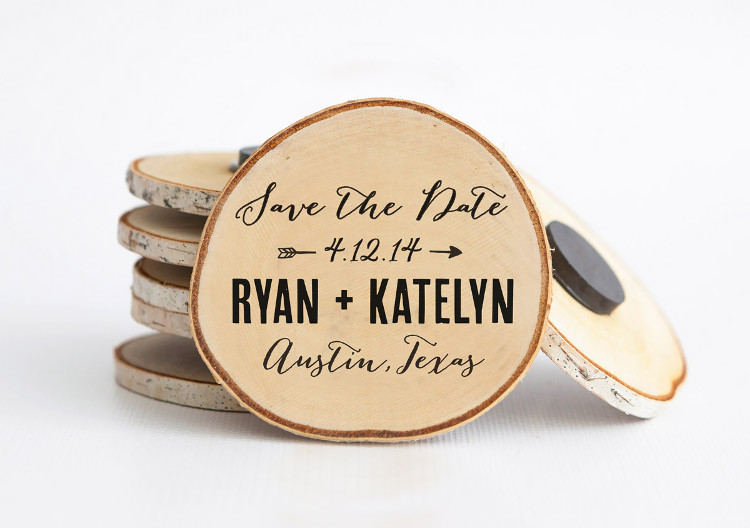 Wooden Save the Date Invitations