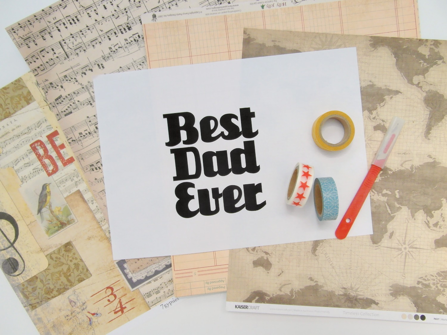 stickytiger super simple papercut father s day cards