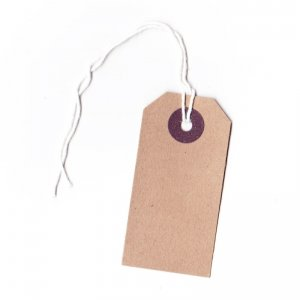 20 x Buff Brown Strung Luggage Style Tags, 70x35mm