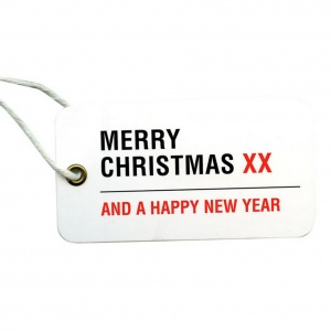 Merry Christmas London Street Sign Tags