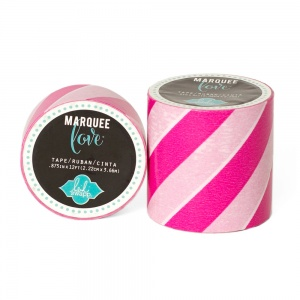 Marquee Love Stripe Tape, Pink