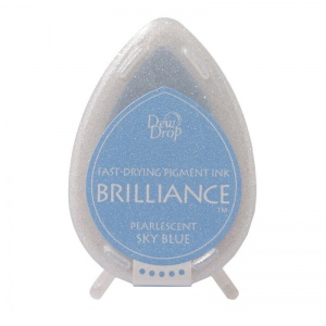 Pearlescent Sky Blue Brilliance Dew Drop Ink Pad