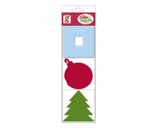 Present, Bauble & Tree Six Festive Mini Note Cards