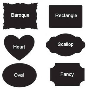 Small Chalkboard labels, 18 per sheet