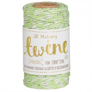 Lime & Silver Twine, 40 metres