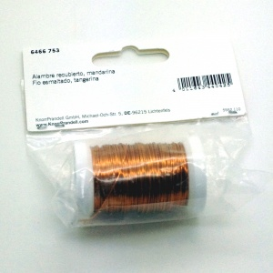 Tangerine Metal thread 0.5mm x 50m