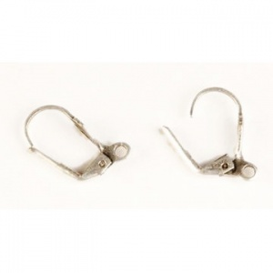 Clip on silver lily earwires, 2 pairs