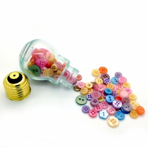 Light Bulb of Pastel Buttons