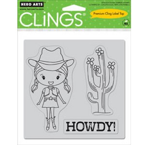 Howdy Cling Stamp Set (CG272) by Hero Arts