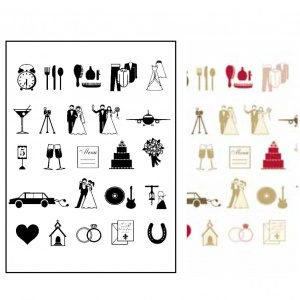 Wedding Icon Stamp Set