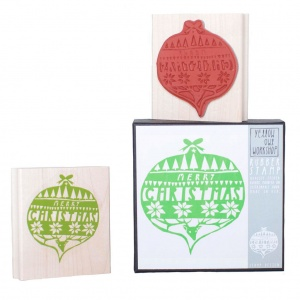 Yellow Owl Workshop Merry Christmas Ornament Stamp Set