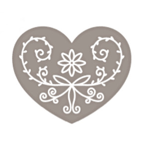 Russian Heart wooden rubber stamp