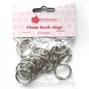 3/4'' (19mm) Book Binder Rings - Silver Coloured