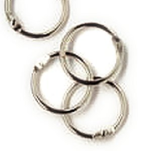 1'' (25mm) Book Binder Rings Silver Coloured