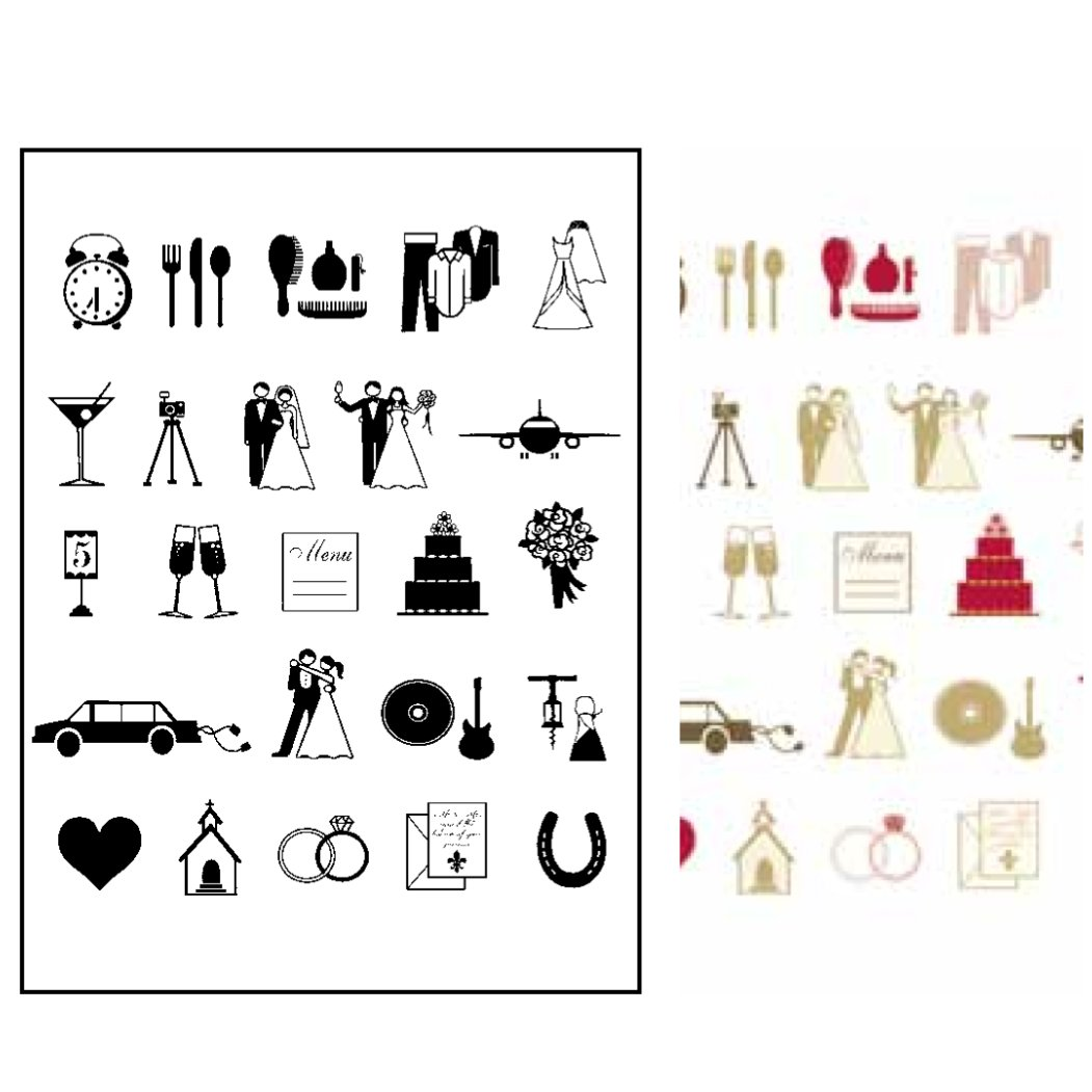 S1323-Wedding-Icon-Stamp-Set Quilling Letter Templates Free on