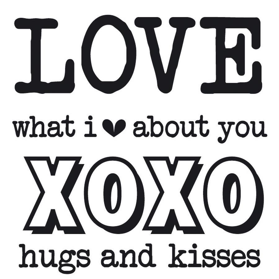 Hugs And Kisses Love Letter