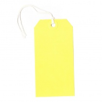 Yellow Strung Tags 120x60mm, Pack of 50