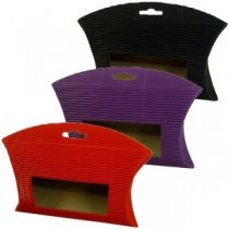 Ribbed Window Pouch Various Colours