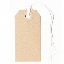 Manilla Strung Luggage Style Tags 70x35mm