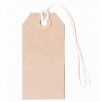 Manilla Strung Luggage Style Tags 82x41mm (20 pack)