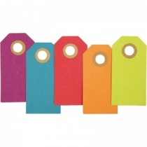 Bright Coloured Gift Tags in Assorted Colours