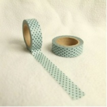Blue & Black Dot Washi Tape