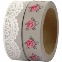 Lace & Rose (Skagen) Washi Two Tape Set