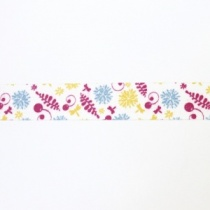 Red, Yellow and Blue Botanical Theme Washi tape, 10m, Ex Demo Stock