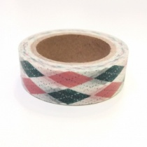 Green & Pink Argyle Washi Tape