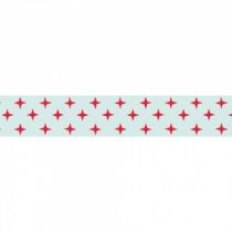 Contemporary Red Stars Washi Tape, 10m