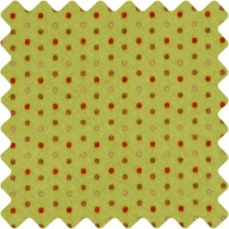 Green Felt Sheet with red polka dots, Helsinki design, 150 x 45cm