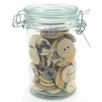 Spice Jar of Wooden Buttons