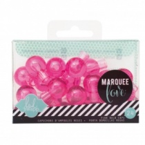 Marquee Love, Extra Bulb Covers, Pink, 24 pieces