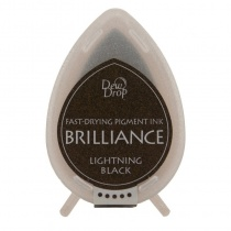 Lightning Black Brilliance Dew Drop Ink Pad