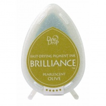 Pearlescent Olive Brilliance Dew Drop Ink Pad