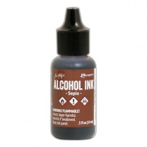 Sepia Adirondack Alcohol Ink, 15ml, by Tim Holtz