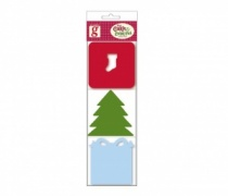 Stocking, Tree & Present Six Festive Mini Note Cards
