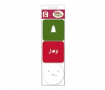 Tree, Joy & Snowman Festive Mini Note Cards