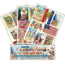 'Celebrate America' Themed Collage Pack of 15 Papers