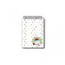 Dotty Snowman Spiral Notepad