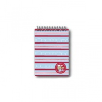 Ho Ho Ho Striped Spiral Notepad