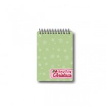 Holly Jolly Spiral Notepad