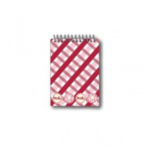 Noel Plaid Spiral Notepad