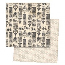 Love Me ''Stamped'' Paper 12 inch cardstock