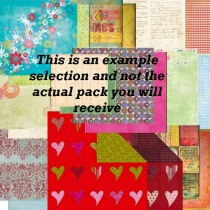 Surprise Pack of 10 x 12 inch papers/card/stickers